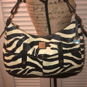 Dooney & Bourke Zebra Patterned Leather Hobo